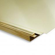 Plancha latón 400x200mm 0'3 mm espesor