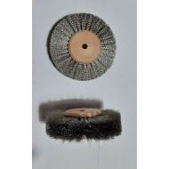 Cepillo circular hilo de acero ondulado 80 mm
