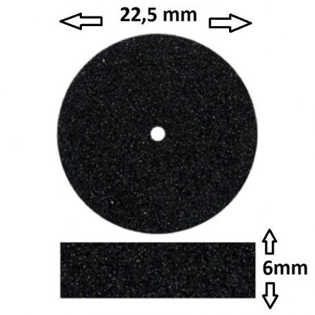 Rueda grano medio negra 22,5x6mm EXTRA ANCHO