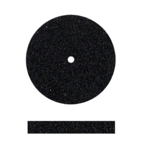 Rueda grano medio negra 22,5x3mm