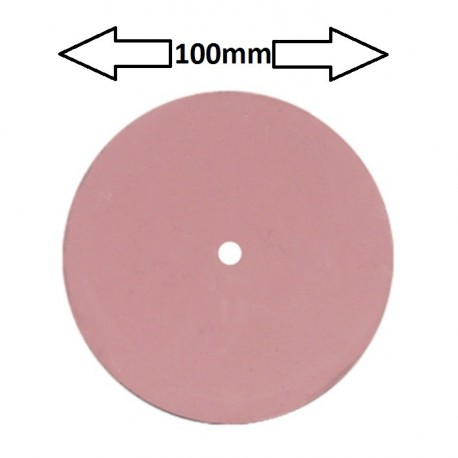 Rueda 100 mm para pulidora , rosa extra fina