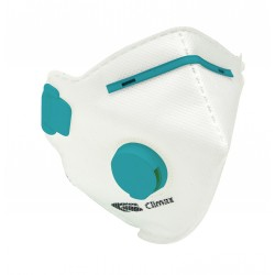 Media máscara filtrante plegable con válvula de exhalación