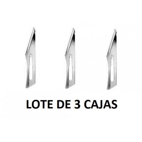 Lote 3 cajas cuchillas Aesculap Nº11