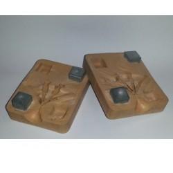 Tachon cuadrado para moldes de silicona