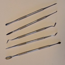Juego de 5 escarvadores para modelar cera