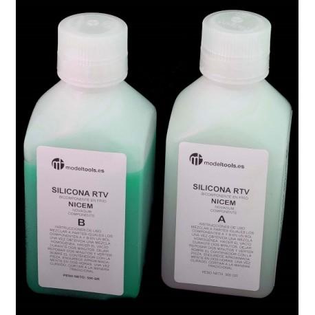 Silicona Bicomponente en líquida SIN REDUCCION
