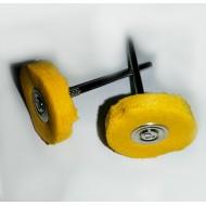 Disco tela augusta amarilla 22 mm