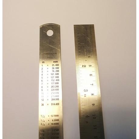 Regla acero inox 30 cms Kristeel
