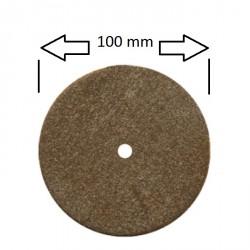 Rueda 100 mm para pulidora, marrón extra larga duración