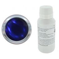 Resina epoxi transparente azul