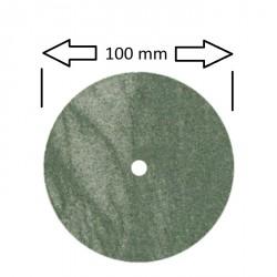 Rueda 100 x 12 mm para pulidora,verde grano medio
