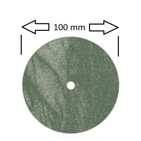 Rueda 100 mm para pulidora,verde grano medio