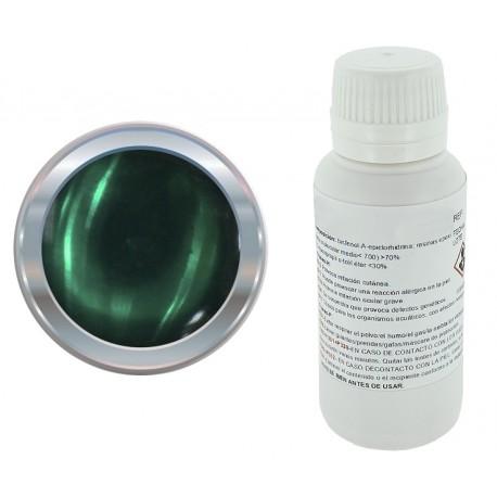 Resina epoxi transparente verde