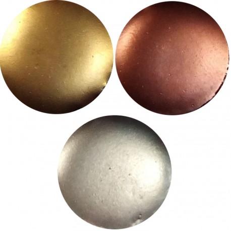 Pack 3 colores metálicos de resina esmalte epoxi en frio